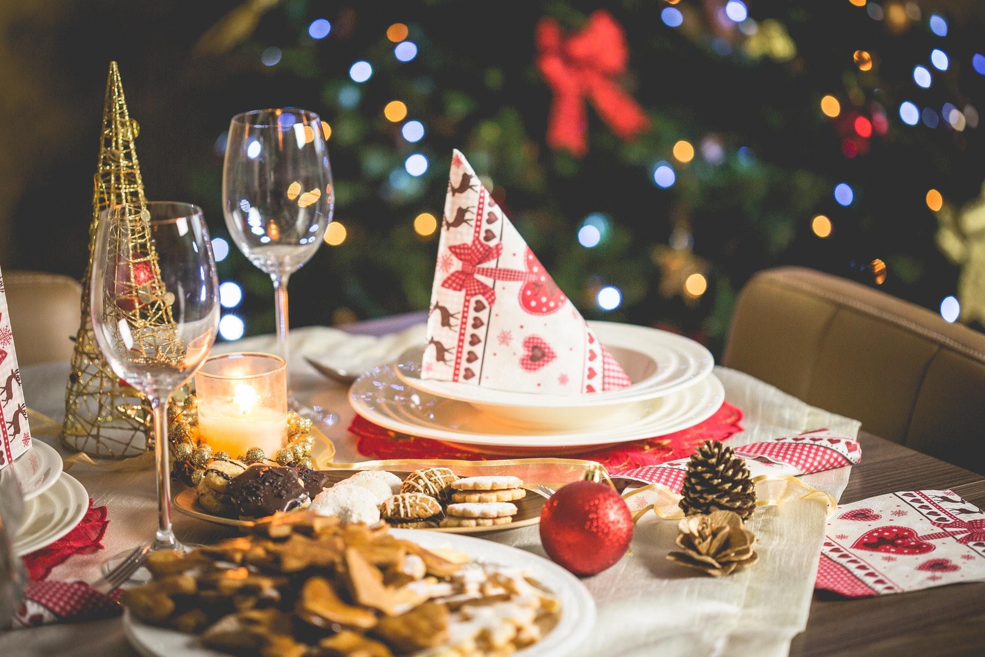 Holiday Dinner setting